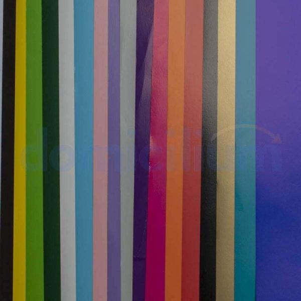 Cartulina satinada variedad de colores