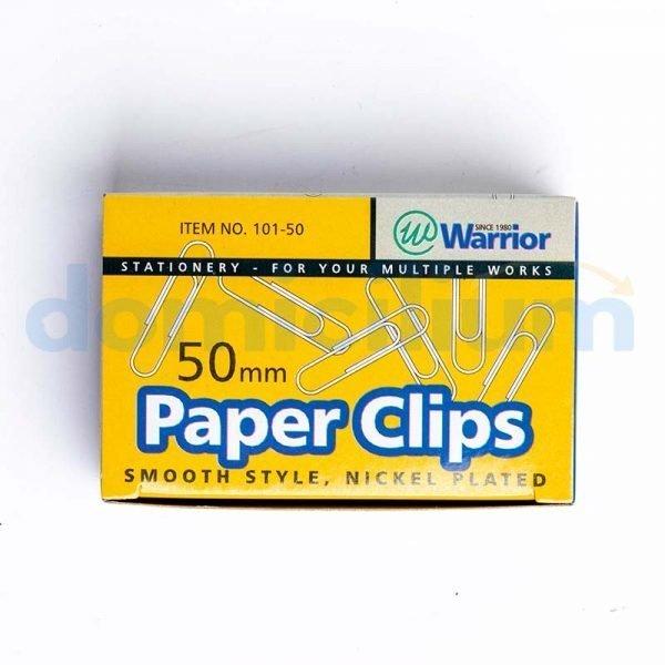 Clip jumbo niquelado Warrior caja 100
