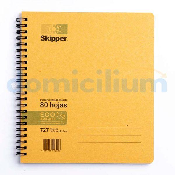 Cuaderno rayado 80 hojas pequeño #727