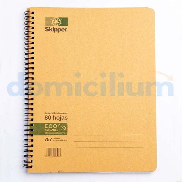 Cuaderno rayado 80 hojas grande #757