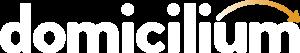Logo Domicilium blanco con naranja Footer