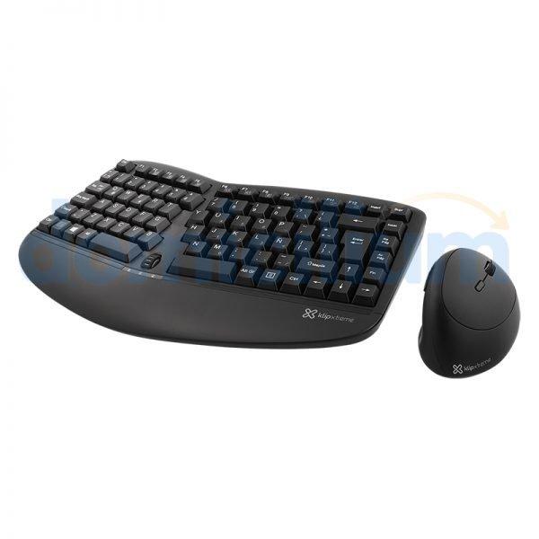 Klip Kit mouse y teclado Inalámbrico/ergonómico